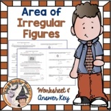 Area of Irregular Figures Composite Compound Shapes Word Problems Practice