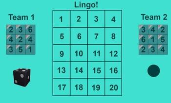 Irregular French verbs Lingo game for Smartboard