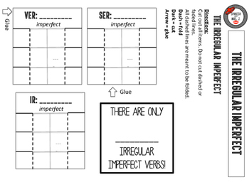 Irregular Imperfect: Spanish Interactive Notebook Page