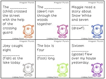 Irregular Monsters: Irregular Plural Nouns and Irregular Past Tense Verbs