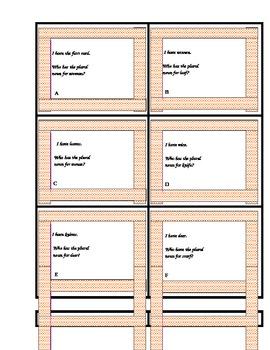 Irregular Noun I have Who has card set