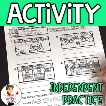 Irregular Nouns Activity with Lesson Plans, Handout, Poster, and Answer Keys