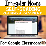 Irregular Nouns SELF-GRADING Assessments for Google Classroom