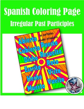 Irregular Past Participles (Hecho, dicho)- Present Perfect Spanish coloring page