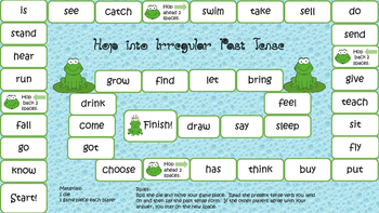 Irregular Past Tense Board Game
