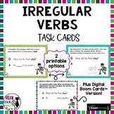 Irregular Past Tense Verb Task Cards - Printable AND Digital!