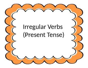 Irregular Past Tense Cards