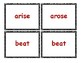 Irregular Past Tense Cards (without pictures)