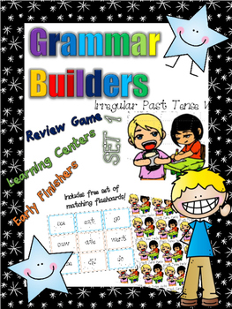 *Print and Play* Grammar Builders - Memory Games - Irregular Past Tense Verbs 1