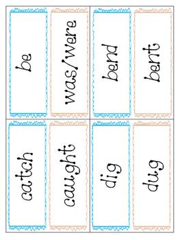 *Print and Play* Grammar Builders - Memory Games - Irregular Past Tense Verbs 2