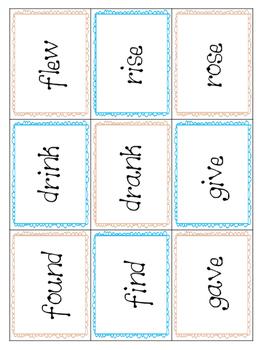 *Print and Play* Grammar Builders - Memory Games - Irregular Past Tense Verbs 3