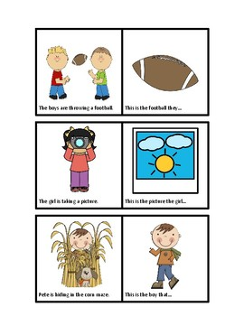 Irregular Past Tense Picture Cards