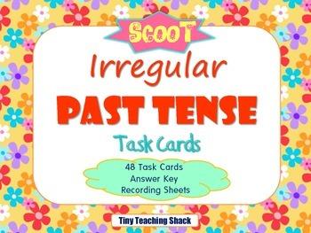 Irregular Past Tense Task Cards {SCOOT}