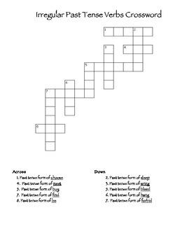 Irregular Past Tense Verb Activities- 6 Activities (102 Pages + Answer Keys)