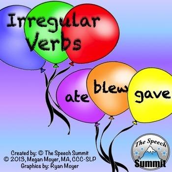 Irregular Past Tense Verb Activity