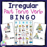 Irregular Past Tense Verb BINGO Game for Grammar
