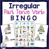 Irregular Past Tense Verb BINGO Game for Grammar