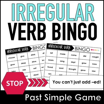 Past Simple Irregular Verb Bingo Game