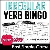 Past Simple Irregular Verb Bingo Game