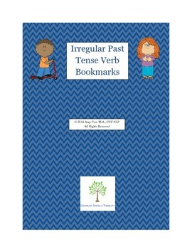 Irregular Past Tense Verb Bookmarks
