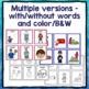 Irregular Past Tense Verb Cards Organized by Pattern of Change