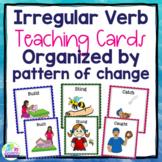 Irregular Past Tense Verb Teaching Cards - Organized by Pattern of Change
