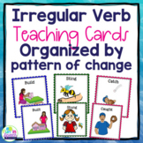 Irregular Past Tense Verb Cards Organized by Pattern of Change