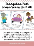 Irregular Past Tense Verb Flash Cards - 20 Cards