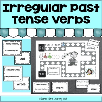Irregular Past Tense Verb Games & Activities