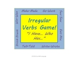 """Irregular Past Tense Verb Game """"I Have... Who Has..."""" for Review"""