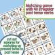 Irregular Past Tense Verb Games | Bingo and Matching Game | Pug Party | Grammar