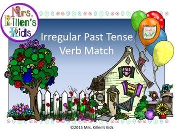 Irregular Past Tense Verb Match (Sampler)