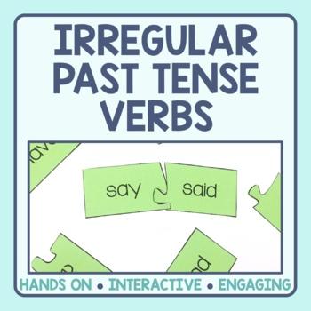 Irregular Past Tense Verb Matching Puzzles
