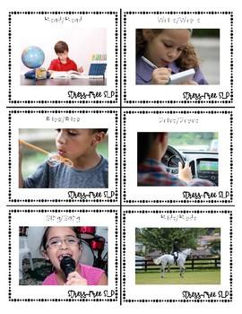 Irregular Past Tense Verb Picture Cards