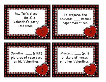 Irregular Past Tense Verb Practice-Valentine's Day