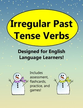Irregular Past Tense Verbs Activities and Writing