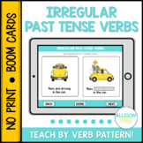 Irregular Past Tense Verbs BOOM Cards™️ Speech Therapy Distance Learning