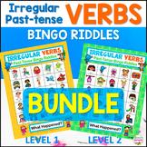 Irregular Past Tense Verbs Bingo Riddles Bundle