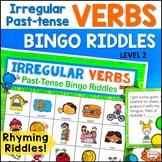 Irregular Past-Tense Verbs Bingo Riddles Level 2