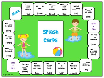 Irregular Past Tense Verbs Board Game