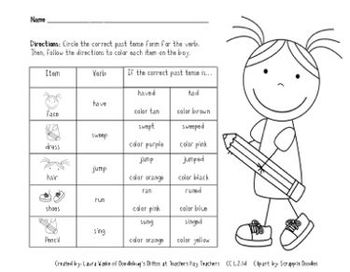 Irregular Past Tense Verbs CC L.2.1d