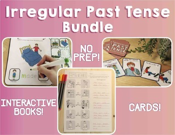 Irregular Past Tense Verbs: The Bundle!(Actions, Verbs, Speech Therapy)