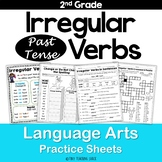 Irregular Past Tense Verbs NO PREP Practice Sheets L.2.1.d