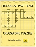Irregular Past Tense Verbs Crossword Puzzles (Distance Learning)
