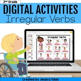 Irregular Past Tense Verbs Digital Language Activities- L.2.1.d Google Slides