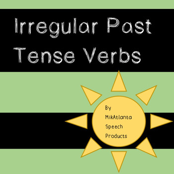 Irregular Past Tense Verbs Fill-In FREEBIE {Worksheets}