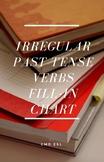 Irregular Past Tense Verbs Fill-in Chart