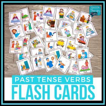 Irregular Past Tense Verbs Flash Cards