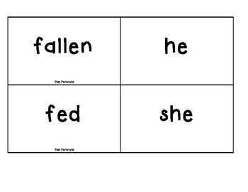 Irregular Past Tense English Verbs Game