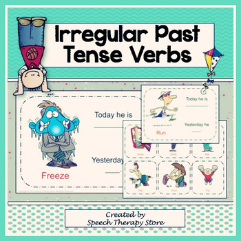 Speech Therapy Irregular Past Tense Verbs K-5th Grade Bundle
